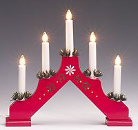 traditional swedish advent candle decoration these would be great in the front windows - Traditional Swedish Christmas Decorations