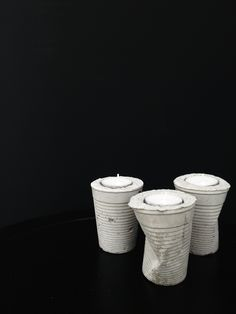 Concrete DIY by RSNNSNK vaso fruncido doblado portavelas cemento candleholder