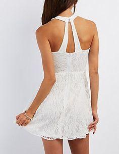 Floral Lace Skater Dress: Charlotte Russe