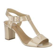 Buy Clarks Smart Deva Sandals, Nude Patent Online at johnlewis.com