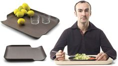 The Clever Cutouts On These Serving Trays Promise To Make Cafeteria Dining Less Terrible