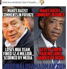 This man also owes 19 million in back taxes.  So if You say Trump owes back taxes and belongs in prison, why doesn't good old black Al? Is he also too big to fail?