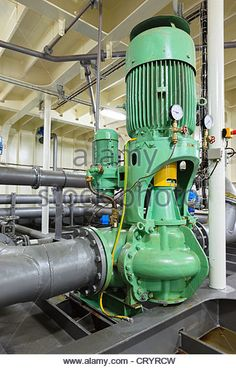 Industrial electric water pump and pipes. Marine Engineering, Chemical Engineering, Mechanical Engineering, Electric Water Pump, Electric Motor, Industrial Water Pumps, Oil Platform, Pump House, Industrial Electric