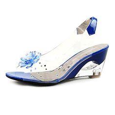 zapatos de las mujeres de la honda de vuelta sandalias más colores disponibles claras y charol cuña – USD $ 19.99