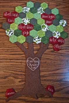 "Hex Family Tree Wall Hanging - I absolutely ADORE this & will be putting it on my ""Projects To Do"" list!!"