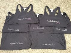 DIY bridal party tank tops for bachelorette party!