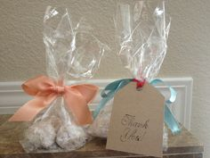 White Mexican powder cookies - bridal shower favors