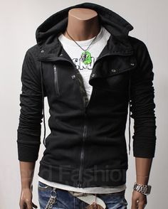 Quilt Hood Jacket (Black) - Rockdenim.no - $699nok