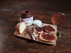 Miniature tasty snack chopping Nutella by bagusitaly on Etsy, €20.00