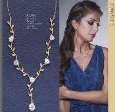 Collana placcata Oro con zirconi in Orologi e gioielli | eBay