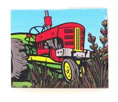 Sarah C Art Blocks : Tractor – www.themotelshop.co.nz Sarah C, New Zealand Art, Tractors, Your Favorite, Art Prints, Artist, Design, Art Impressions, Artists