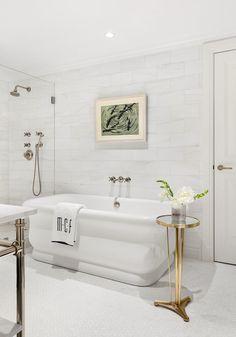 Residential — Ariel Okin Mismatched Dining Chairs, Rattan Armchair, Interior Decorating, Interior Design, Dream Apartment, Clawfoot Bathtub, Elle Decor, Design Firms, Luxury Interior