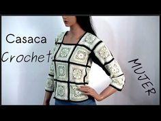 Chaqueta/Campera fácil hecha con Granny Squares --Crochet-- - YouTube