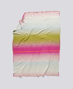 Colour Plaid Blanket by Scholten & Baijings for Hay Hay's Colour Plaid blanket is made of merino wool. The blanket features a beautiful striped pattern in stunning colours. Throw Rugs, Throw Pillows, Throw Blankets, Moma Collection, Design Bleu, Pink Olive, Textiles, Plaid Blanket, Stripes