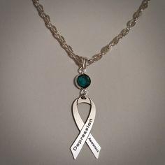 35c1285bd Depression Awareness Necklace - w/ Swarovski Austrian Crystal, Ribbon  Jewelry, Support Cause Charity