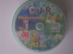 "10 pack 3"" mini CD-R BUSINESS CARD GQ Great Quality by Great Quality GQ. $19.99. cd-r business card, 5min/50mb, great quality, 10 pack, 3"" mini"
