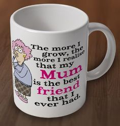 Is your Mum your best friend? Is she always there with ears to listen, arms to cuddle you & somehow always knows the right thing to say to cheer you up? We have the perfect gift that says it all for your special MUM- go check out our fabulous Mugs & Magnet MOTHERS DAY range, exclusive to UK fans by clicking this link http://www.charliebitme.co.uk/aunty-acid-mum-best-friend-mug-61743-p.asp #mothersdaygift #mothersday #auntyacid 'gifts #mumhumor #mum