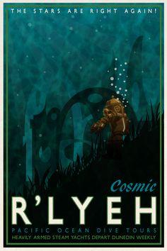 Cosmic R'lyeh by DrFaustusAU on DeviantArt The Call of Cthulhu - The H. Hp Lovecraft, Lovecraft Cthulhu, Cthulhu Mythos, Cthulhu Art, Call Of Cthulhu Rpg, Gothic Horror, Horror Art, Yog Sothoth, Aliens