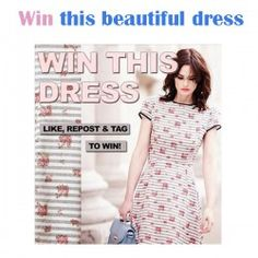 Win this beautiful #dress ^_^ http://www.pintalabios.info/en/fashion-giveaways/view/en/3396 #International #Fashion #bbloggers #Giweaway