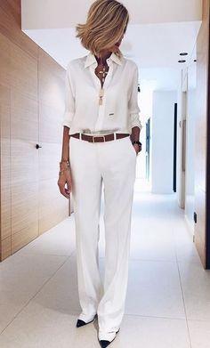 48 Fall Pants That Will Inspire You – Work Fashion Fashion Over 50, Work Fashion, Trendy Fashion, Fashion Looks, Fashion Spring, Fashion Ideas, Fashion Clothes, Fashion Dresses, Ladies Fashion