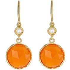 Irene Neuwirth Women's Gemstone Double-Drop Earrings (£1,355) ❤ liked on Polyvore featuring jewelry, earrings, colorless, gem jewelry, gemstone drop earrings, clear crystal earrings, gemstone jewelry and 18 karat gold earrings