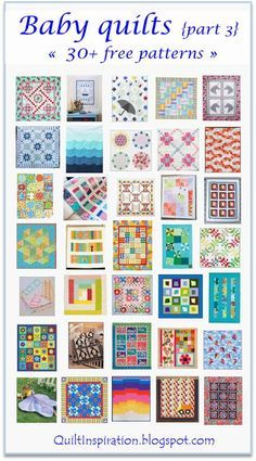 Free pattern day:  Baby quilts!  (part 3).  January 2016.