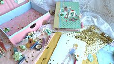 Tutorial МК- личный дневник для девочки+шкатулка Photo play paper/ Paper...