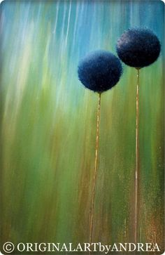 Art de toile acrylique peinture abstraite par ORIGINALARTbyANDREA
