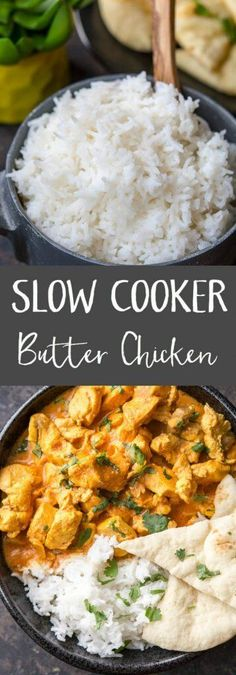 Slow Cooker Butter Chicken is the perfect back to school family meal! Easy and…
