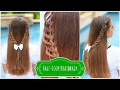 Half-Loop Braidback Tutorial: Click to see video tutorial, more photos, and step-by-step instructions! {Feel free to tag or share with a friend you hope will learn this with you!} #BackToSchool #Hairstyles #Braids
