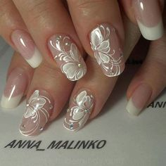 Bride & Wedding Nail Design wedding nails pictures - Braut Nägel - Bridal nails - Herrlich Hair and Nail-Ideen Bridal Nails Designs, Bridal Nail Art, Wedding Nails Design, Wedding Designs, Wedding Ideas, Wedding Nails For Bride, Bride Nails, Prom Nails, Wedding Manicure