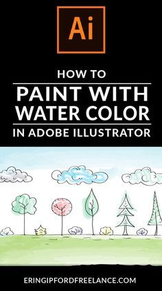Learn how to paint your hand drawings with water colors in Adobe Illustrator.