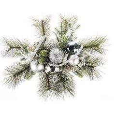 Pine & Silver Ornament Christmas Arrangement