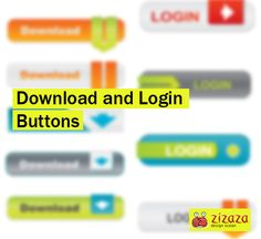Graphic - Download and Login Buttons - Zizaza item for free