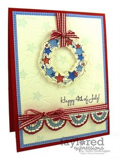 Don't see too many handmade 4th of July cards!