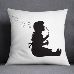 Bubble Girl Printed Cushion