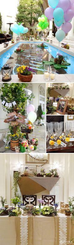 natural & balloon wedding