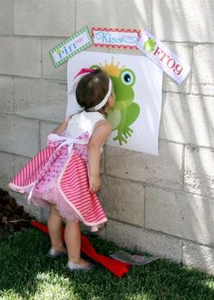 Princess Pin kiss on the frog party game