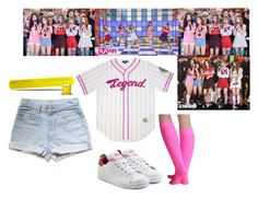 """""""Red Velvet - Dumb Dumb"""" by rv-ohmygirl ❤ liked on Polyvore featuring adidas Originals"""