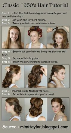 Classic 1950's hairstyle