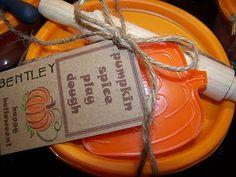 Pumpkin Spice Play Dough Party Favor