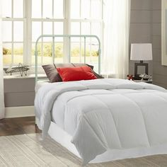 Fashion Bed Group Nolan Arctic White Twin Headboard with Metal Duo Panels - The Home Depot White Twin Headboard, Full Headboard, Headboard And Footboard, Headboard Ideas, Headboards, Bedroom Ideas, Safe Bunk Beds, Kid Beds, Leggett And Platt