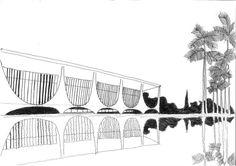[CROQUI] Palácio da Alvorada - Oscar Niemeyer