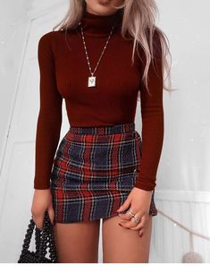 48 Cool Back to School Outfits Ideas for the Flawless Look cute casual outfits - Casual Outfit Teen Fashion Outfits, Look Fashion, Fashion Clothes, Fashion Women, Fashion Ideas, Autumn Fashion, Skirt Fashion, Fashion Belts, Style Clothes