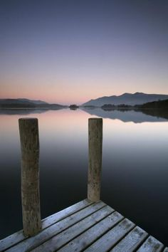 John Potter - Derwent Water Jetty and Skiddaw - art prints and posters