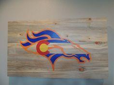 Denver Broncos Colorado Flag custom hand painted by TimberSigns
