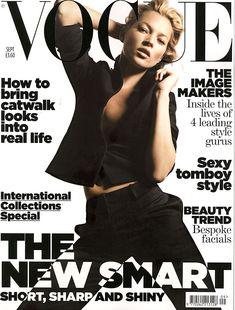2007年最近のVOGUE誌の表紙のケイト・モス(Kate Moss)。