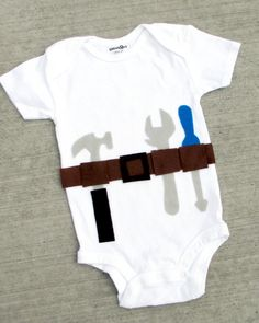 Finally another set of helping hands ;0) Funny Baby Boy Onesie Tool Man by BellaBlitz on Etsy, $13.99