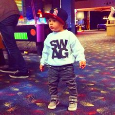 Swag toddler baby style looks like a little Daniel Lopez