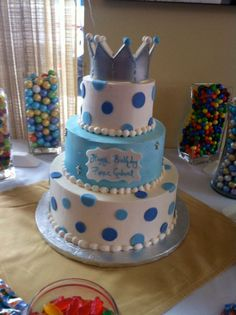 A Prince is on his way ! Baby Shower Cakes by Conti's Bronx NY